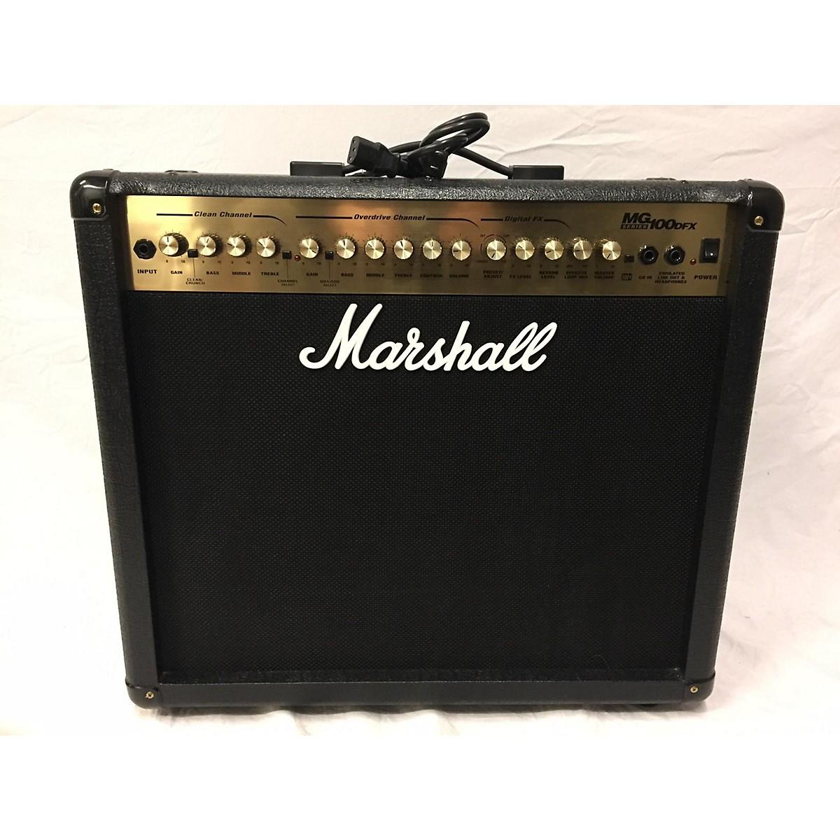 Used Marshall Mg100dfx Guitar Combo Amp