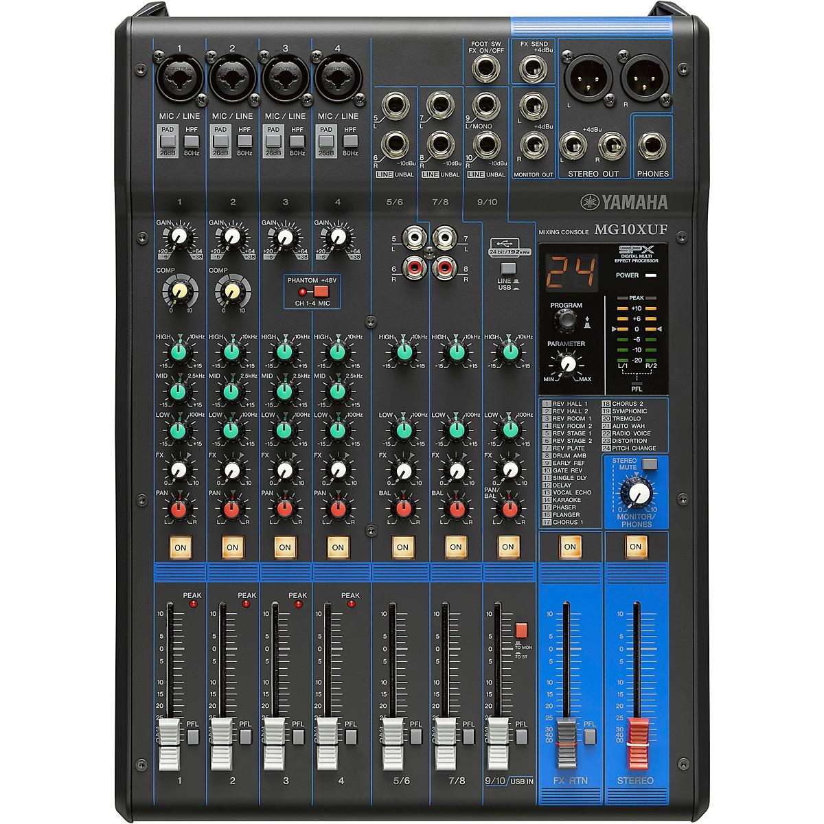 Yamaha MG10XUF 10-Channel Analog Mixer