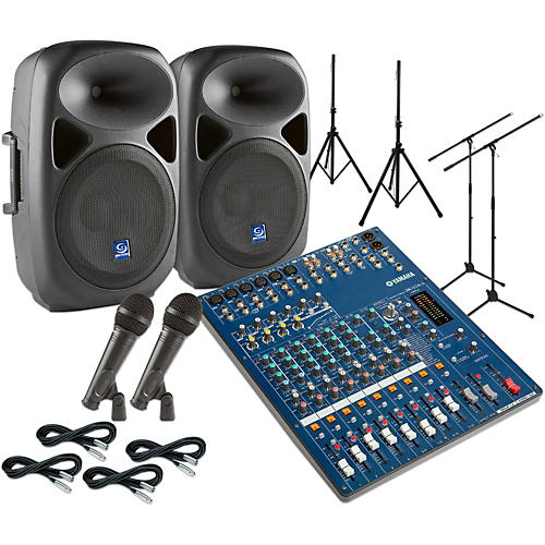 Yamaha MG124CX Gem Sound PXB120 PA Package