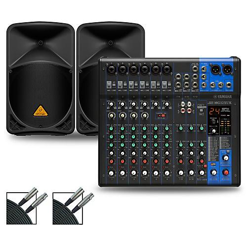 Yamaha MG12XUK Mixer with Behringer Eurolive BW Speakers