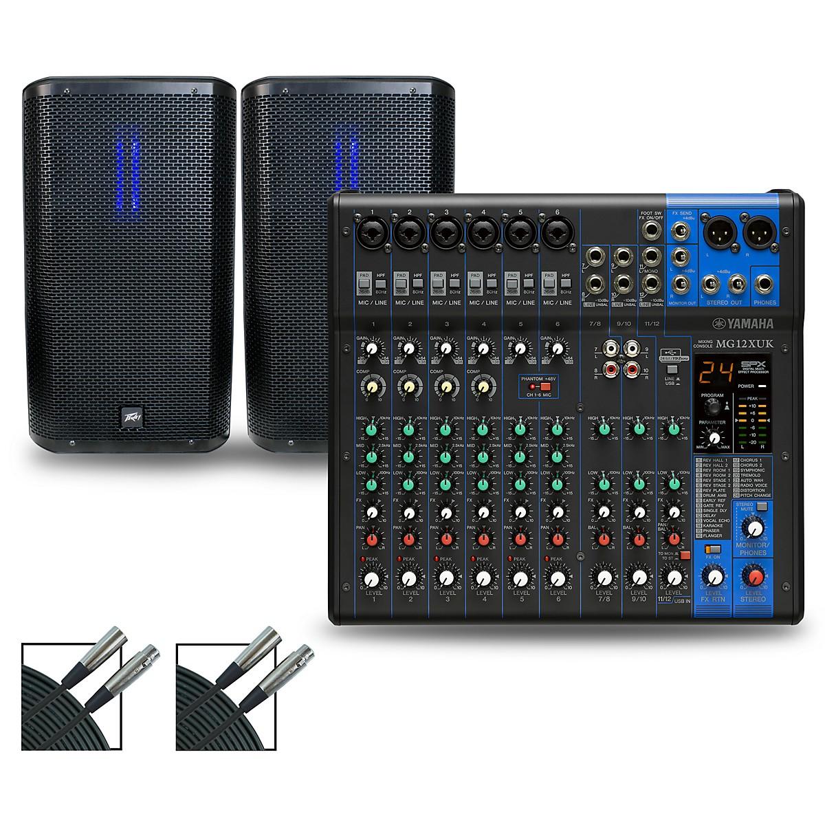 Yamaha MG12XUK Mixer with Peavey RBN Speakers