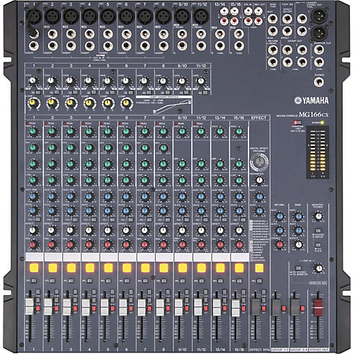 yamaha mg166cx 16 channel mixer with compression and effects guitar center. Black Bedroom Furniture Sets. Home Design Ideas