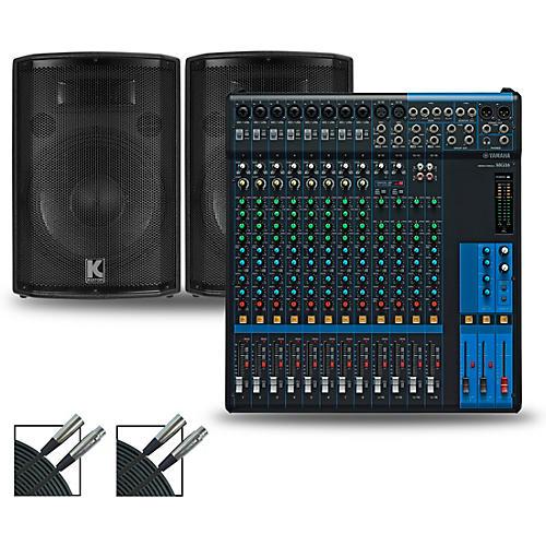 Yamaha MG16XU Mixer and Kustom HiPAC Speakers