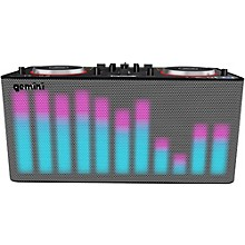 Gemini MIX2GO PRO Portable DJ Mixer with Built-in Speakers and LED Light Show Level 1