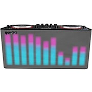 MIX2GO PRO Portable DJ Mixer with Built-in Speakers and LED Light Show