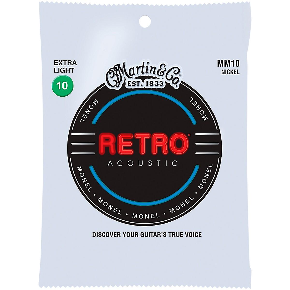 Martin MM10 Retro Extra Light Acoustic Guitar Strings