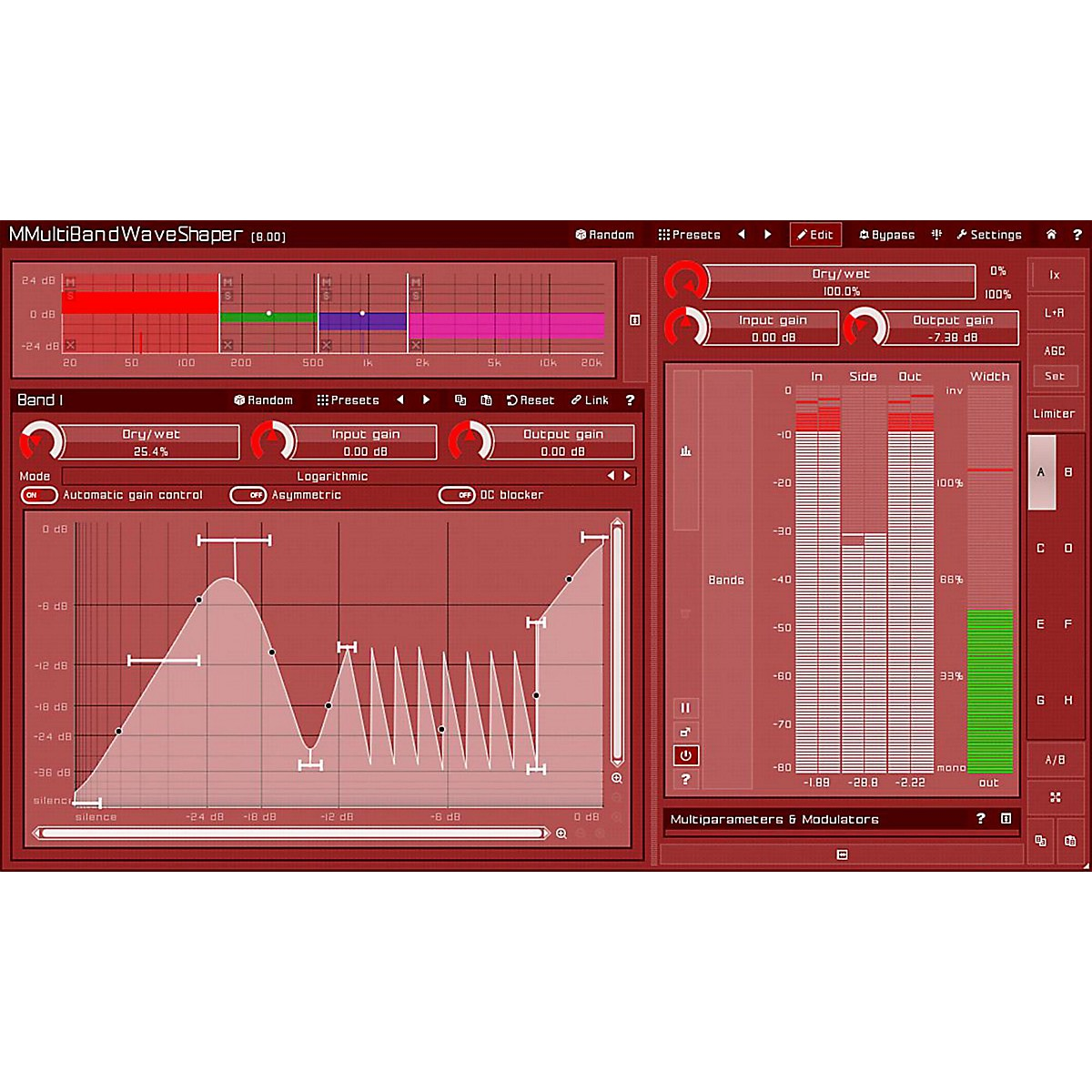 MeldaProduction MMultiBandWaveShaper