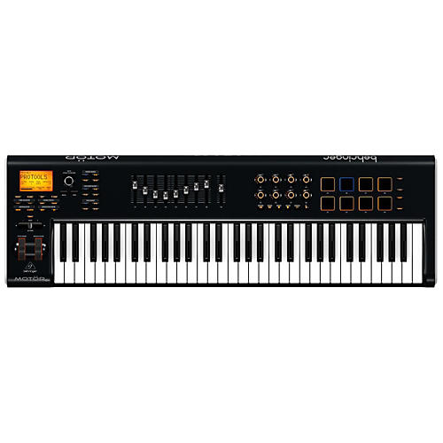 Behringer MOTOR 61 61-Key USB/MIDI Master Controller Keyboard with Motorized Faders and Touch-Sensitive Pads