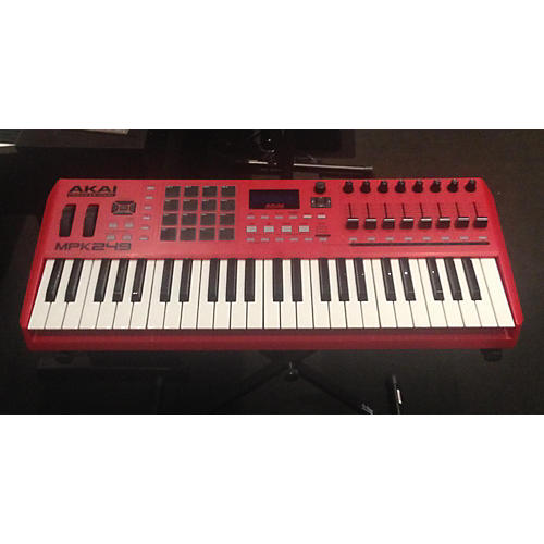 Used Akai Professional Mpk249 49 Key Red Special Edition