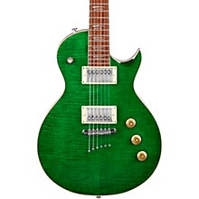 MS450 Shallow Body Single Cutaway Electric Guitar Flame Forrest Green