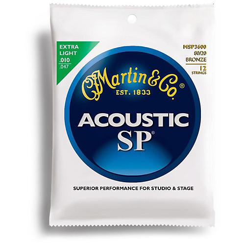 Martin MSP3600 80/20 Bronze Extra Light Acoustic Guitar Strings