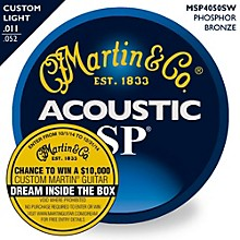 Martin MSP4050 SP Phosphor Bronze Custom Light Acoustic Guitar Strings