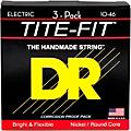 DR Strings MT-10 Tite-Fit Medium Electric Guitar Strings 3-Pack thumbnail