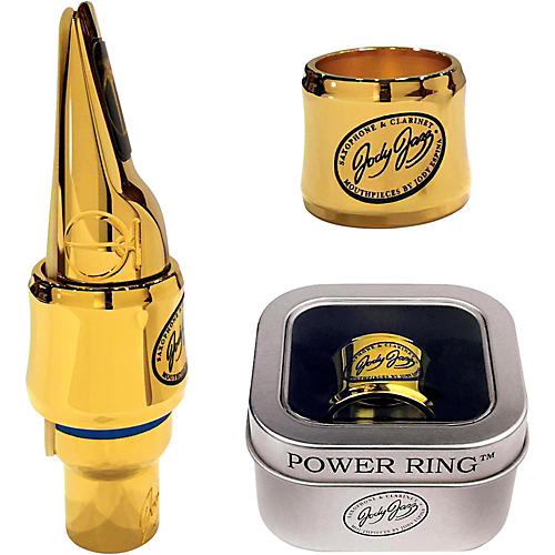 JodyJazz MT1 Gold Power Ring Ligature for Select Tenor Mouthpieces