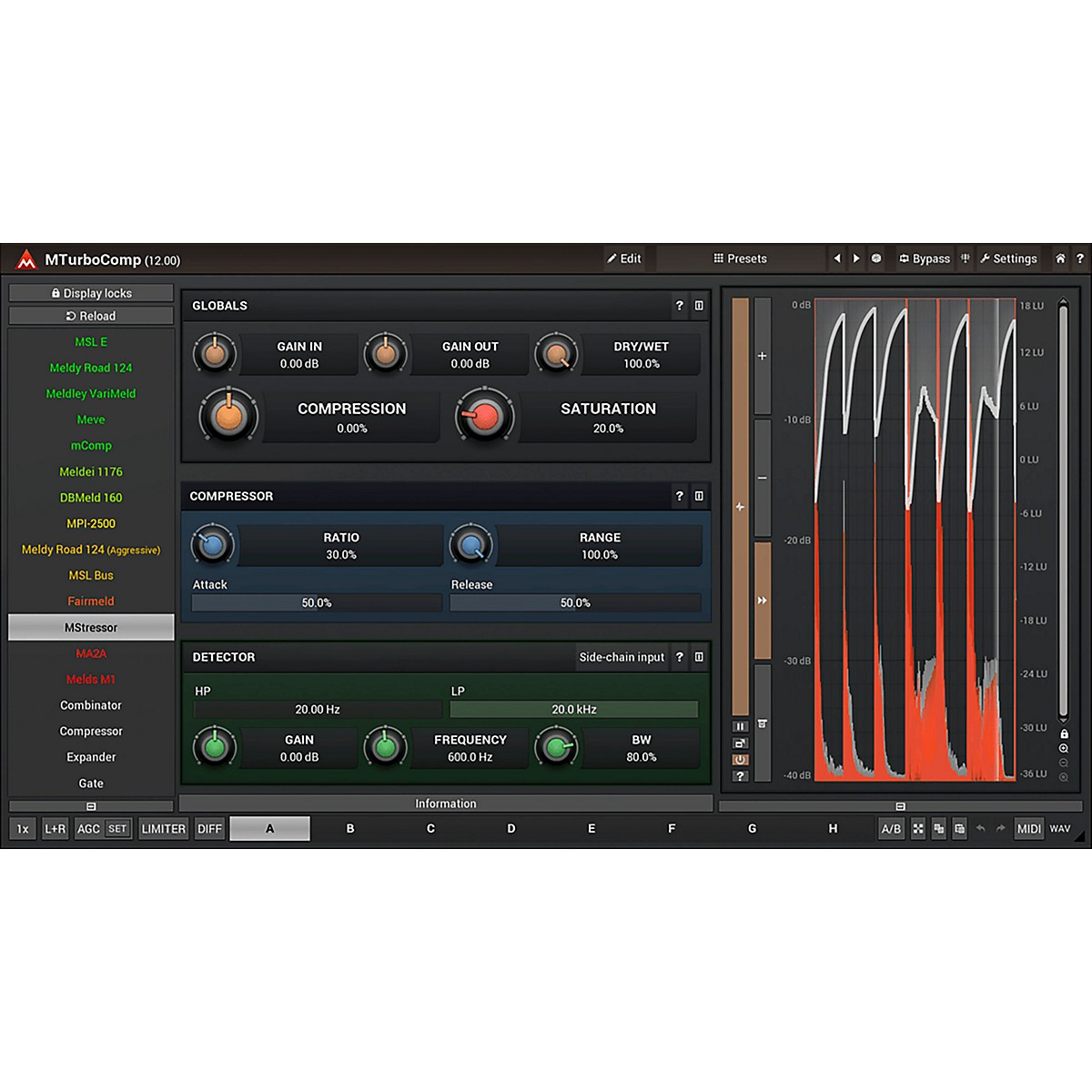 MeldaProduction MTurboComp Vintage Analog Compressor Software Download
