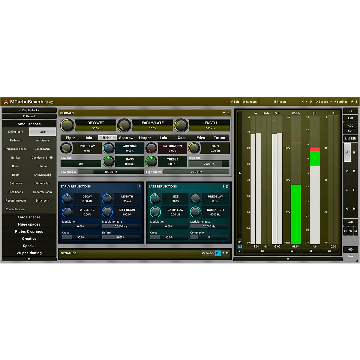 MeldaProduction MTurboReverb Software Download