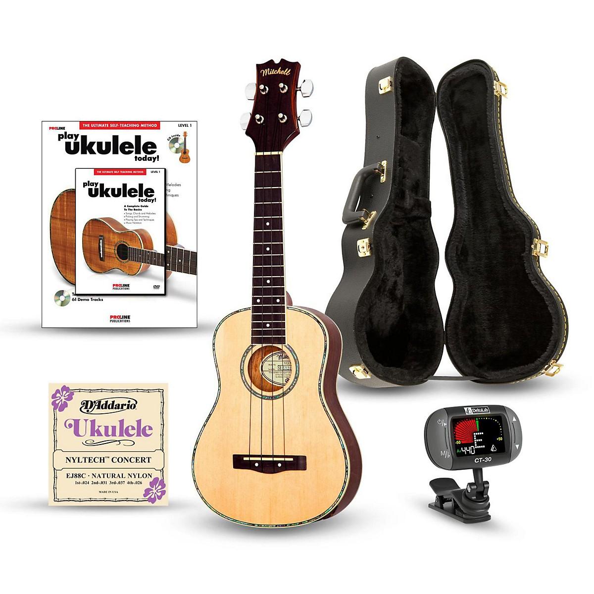 Mitchell MU70 12-Fret Concert Ukulele Deluxe Bundle