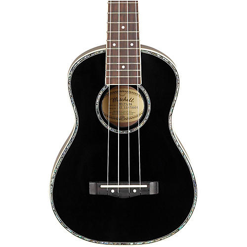 Mitchell Mu75bk Concert Ukulele Black Guitar Center