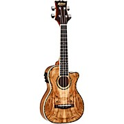 MU80X-CE-SM Exotic Acoustic Electric Cutaway Ukulele Spalted Maple Natural