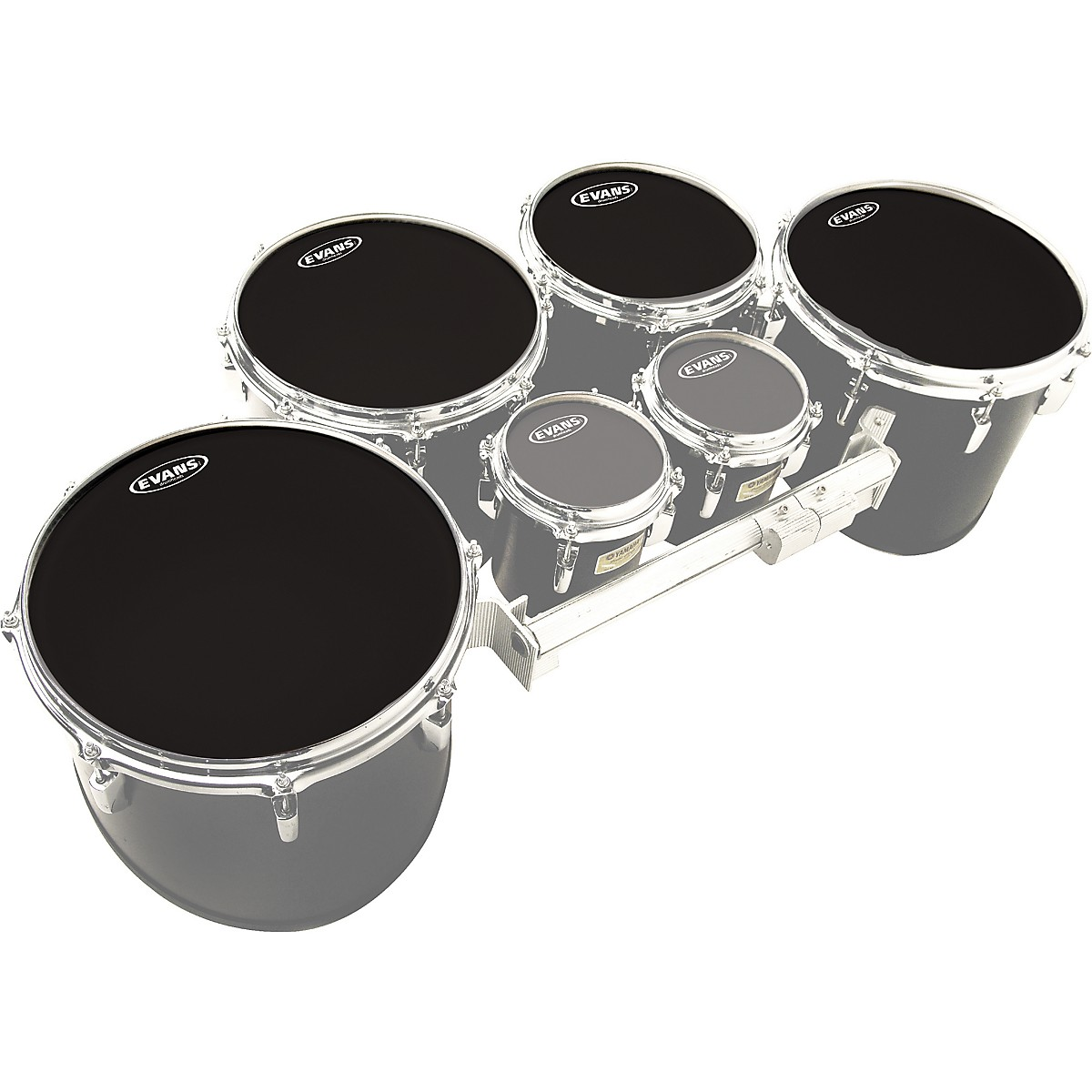 Evans MX Black Tenor Drumhead 4-Pack