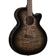 MX420 Grand Auditorium Acoustic-Electric Guitar Midnight Black Finish