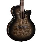 MX420 Grand Auditorium Acoustic-Electric Guitar Midnight Black Finish