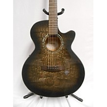 Mitchell MX420 QAB MBK Acoustic Electric Guitar