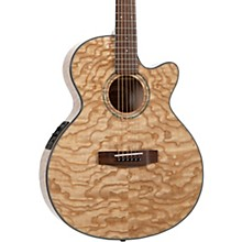 MX430-QAB-NAT Exotic Series Acoustic-Electric Quilted Ash Burl Quilted Ash Burl Natural