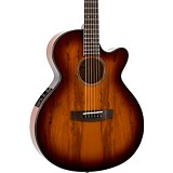 Mitchell MX430 Spalted Maple Acoustic-Electric Guitar Whiskey Burst