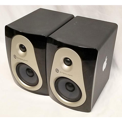 used sterling audio mx5 pair powered monitor guitar center. Black Bedroom Furniture Sets. Home Design Ideas