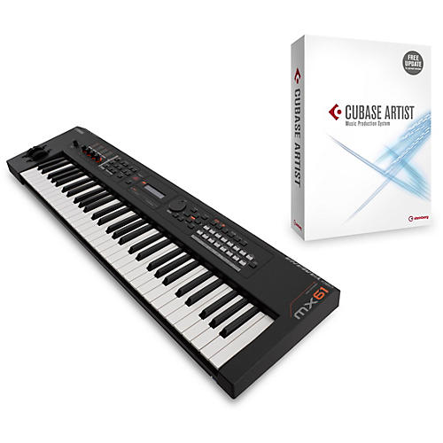 Yamaha MX61 61-Key Music Production Workstation Black with Cubase Artist
