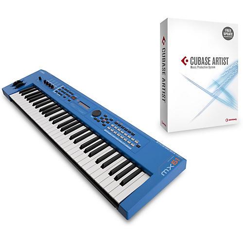 Yamaha MX61 61-Key Music Production Workstation Blue with Cubase Artist