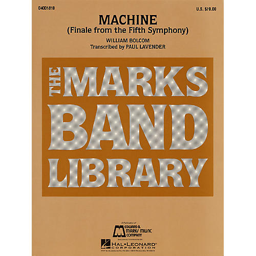 Hal Leonard Machine (Finale from the Fifth Symphony) Concert Band Level 4-5 Arranged by Paul Lavender