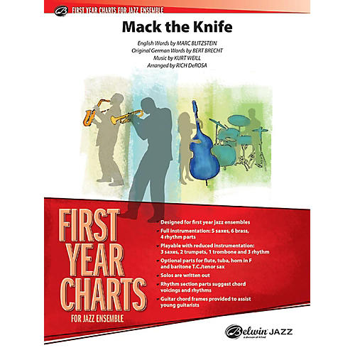 Alfred Mack the Knife Jazz Band Grade 1 Jazz Band Grade 1 Set