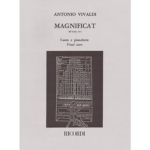 Ricordi Magnificat RV610a/RV611 (Vocal Score) SATB Composed by Antonio Vivaldi Edited by Raffaele Cumar