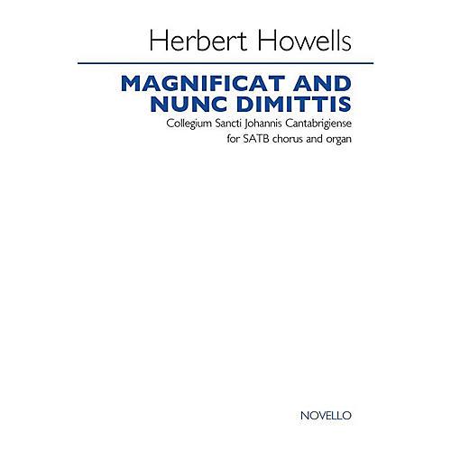 Novello Magnificat and Nunc Dimittis (Collegium Sancti Johannis Cantabrigiense) SATB Composed by Herbert Howells