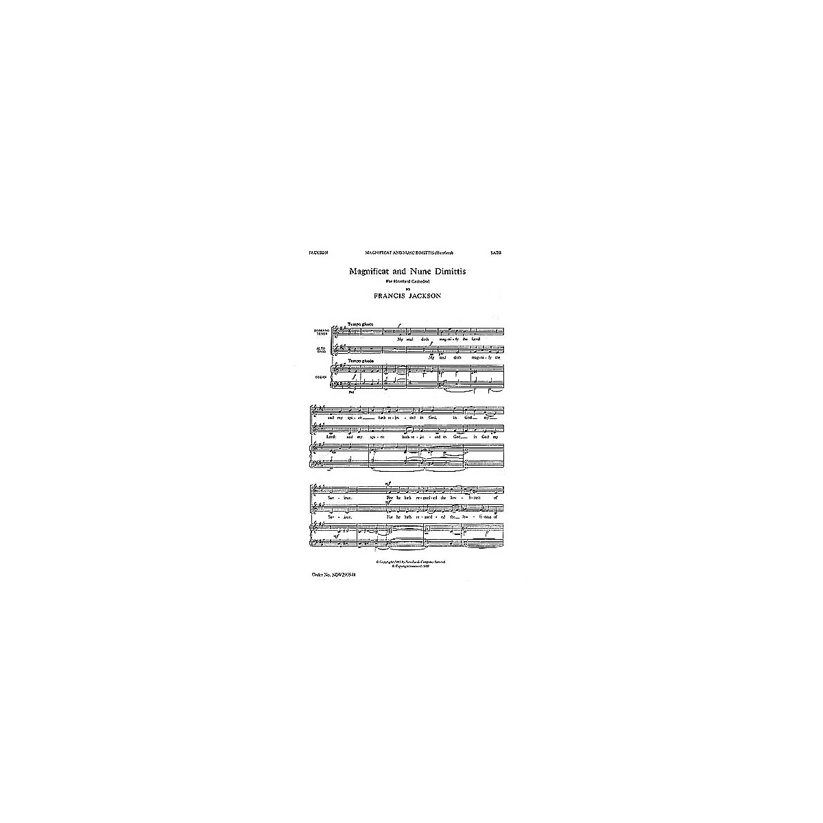 Novello Magnificat and Nunc Dimittis (Hereford) SATB