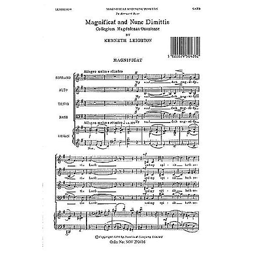 Novello Magnificat and Nunc Dimittis (Magdalen Service) SATB Composed by Kenneth Leighton