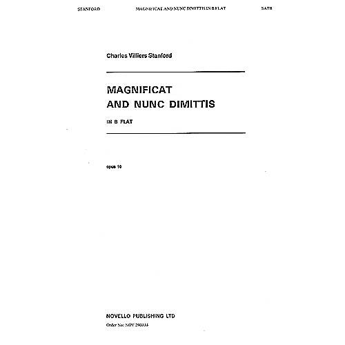 Novello Magnificat and Nunc Dimittis in B Flat SATB Composed by Charles Villiers Stanford