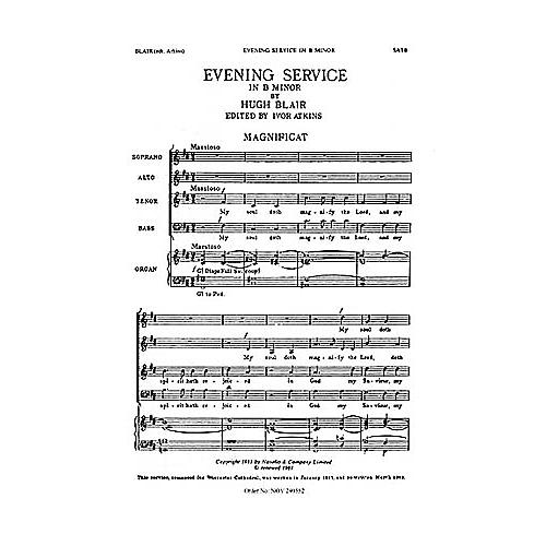 Novello Magnificat and Nunc Dimittis in B Minor SATB Composed by Hugh Blair