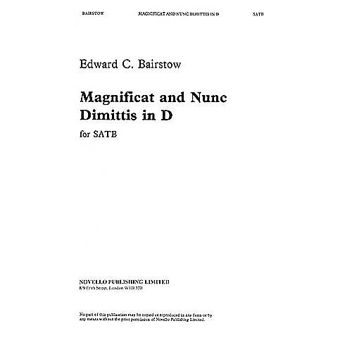 Novello Magnificat and Nunc Dimittis in D SATB Composed by E Bairstow