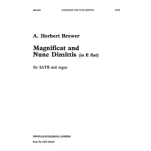 Novello Magnificat and Nunc Dimittis in E Flat SATB Composed by A. Herbert Brewer