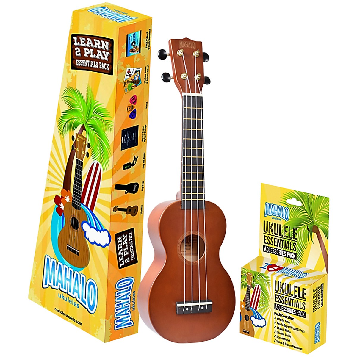 Mahalo Mahalo Rainbow Trans Brown Learn 2 Play Essential Kit