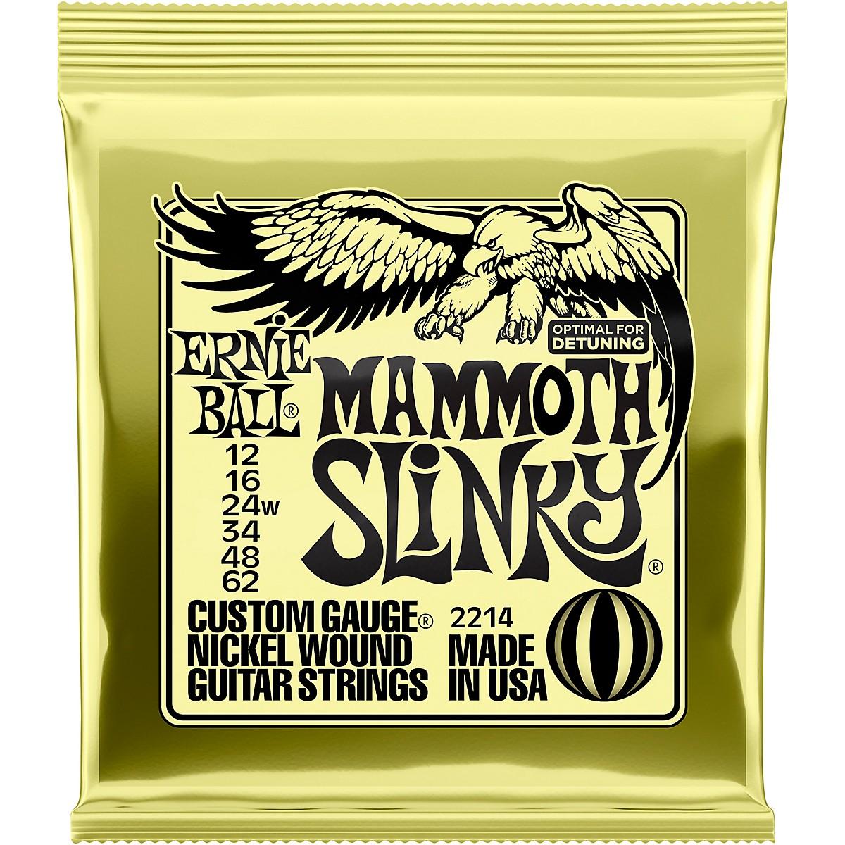 Ernie Ball Mammoth Slinky Nickel Wound Electric Guitar Strings - Gauge
