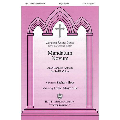 H.T. FitzSimons Company Mandatum Novum SATB a cappella composed by Zachary Hoyt