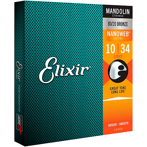 Elixir Mandolin Strings with NANOWEB Coating, Light (.010-.034)