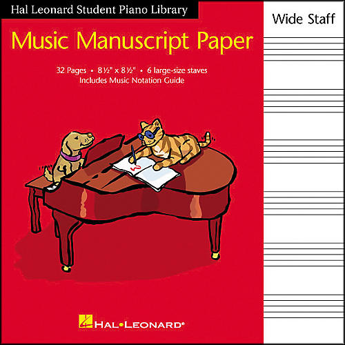 Hal Leonard Manuscript Paper 8 1/2