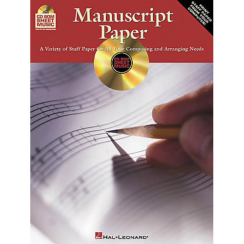 Hal Leonard Manuscript Paper (CD-ROM)