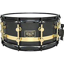 Spaun Maple Snare Level 1 Flat Black with Gold Stripe 14X6.5