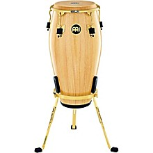 Marathon Exclusive Series Conga with Stand 11 in. Natural/Gold Tone Hardware